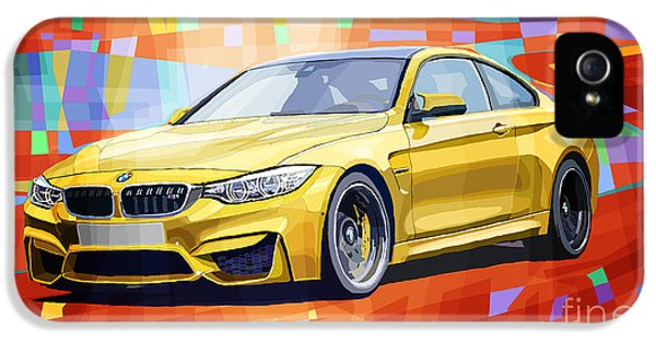 Bmw M4 Orange IPhone 5 Case by Yuriy Shevchuk