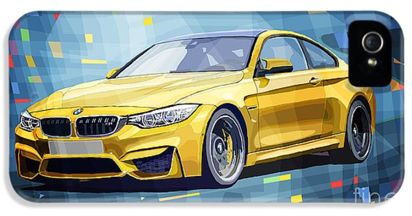 Bmw M4 Blue IPhone 5 Case by Yuriy Shevchuk
