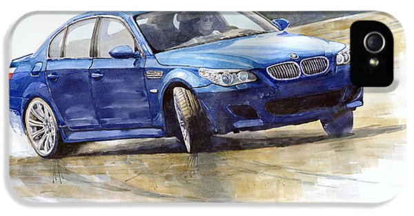 Bmw M5 2006 01 IPhone 5 Case by Yuriy Shevchuk
