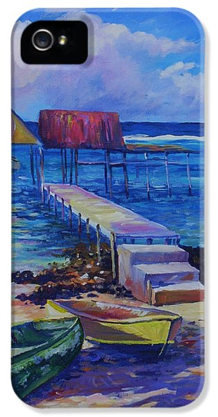 Boat Shed And Boats IPhone 5 Case by John Clark
