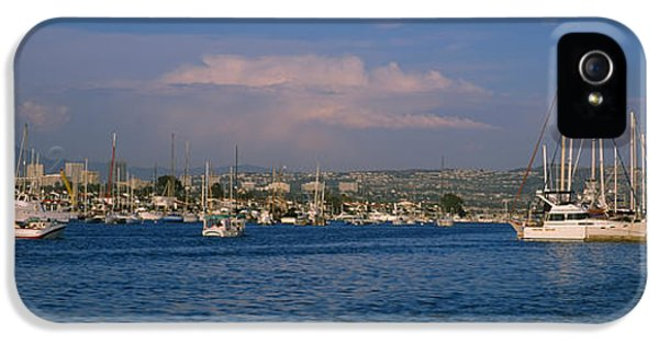 Boats At A Harbor, Newport Beach IPhone 5 Case by Panoramic Images