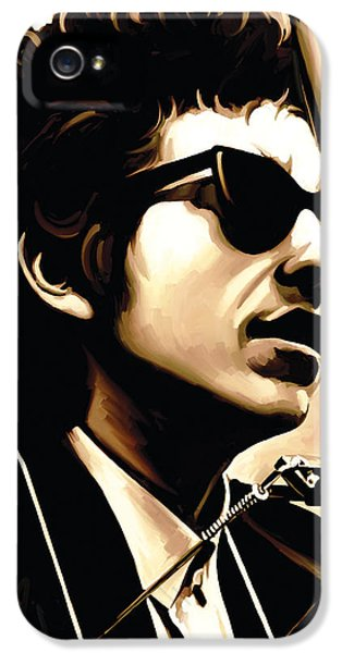 Bob Dylan Artwork 3 IPhone 5 Case by Sheraz A