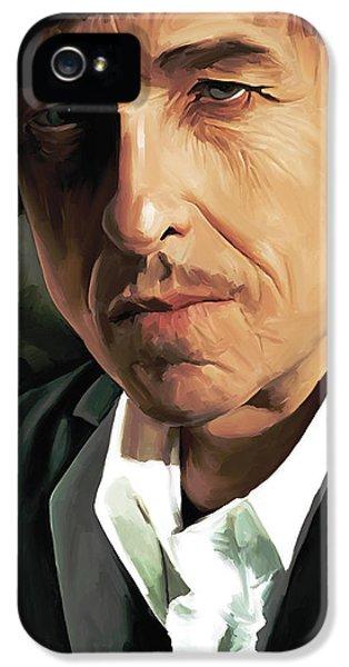 Bob Dylan Artwork IPhone 5 Case by Sheraz A