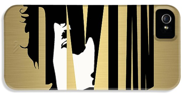 Bob Dylan Gold IPhone 5 Case by Marvin Blaine