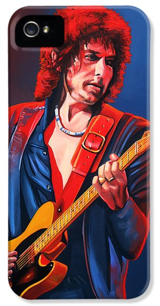 Rolling Stone Magazine iPhone 5 Case - Bob Dylan Painting by Paul Meijering