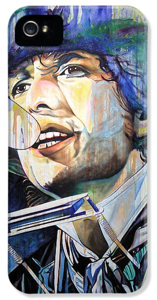 Bob Dylan iPhone 5 Case - Bob Dylan Tangled Up In Blue by Joshua Morton
