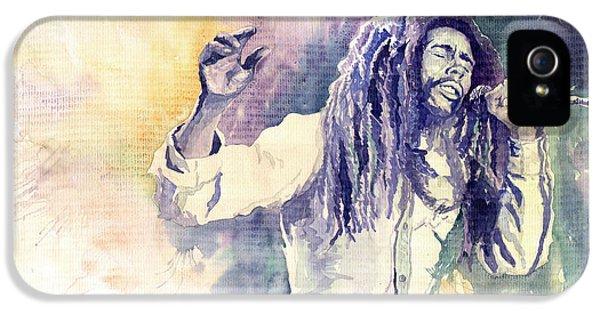 Bob Marley iPhone 5 Cases - Bob Marley iPhone 5 Case by Yuriy  Shevchuk