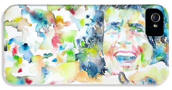 Bon Scott - Watercolor Portrait IPhone 5 Case