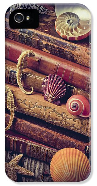 Books And Sea Shells IPhone 5 Case