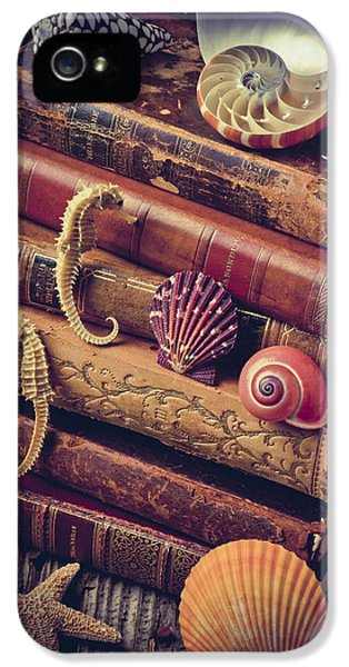 Books And Sea Shells IPhone 5 Case by Garry Gay