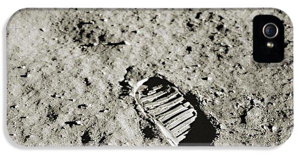 Bootprint On The Moon IPhone 5 Case by Nasa/detlev Van Ravenswaay
