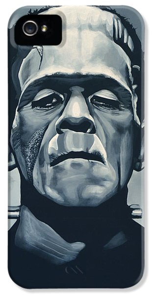Portraits iPhone 5 Case - Boris Karloff As Frankenstein  by Paul Meijering