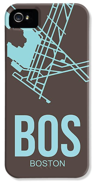 Bos Boston Airport Poster 2 IPhone 5 Case by Naxart Studio