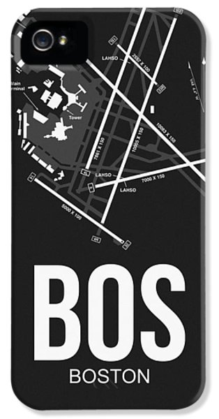 Boston Airport Poster 1 IPhone 5 Case by Naxart Studio