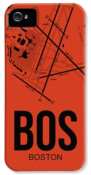Town iPhone 5 Case - Boston Airport Poster 2 by Naxart Studio