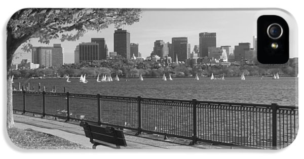 Boston Charles River Black And White  IPhone 5 Case by John Burk