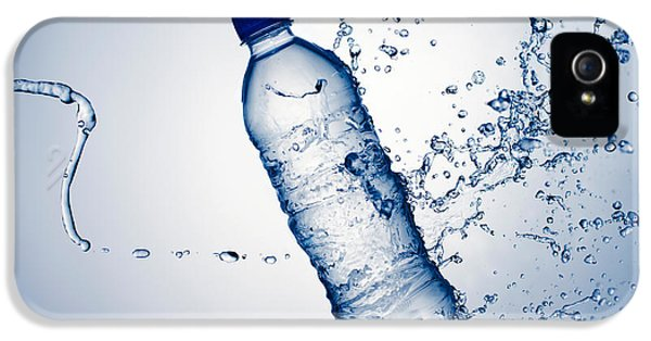 Bottle Water And Splash IPhone 5 Case by Johan Swanepoel