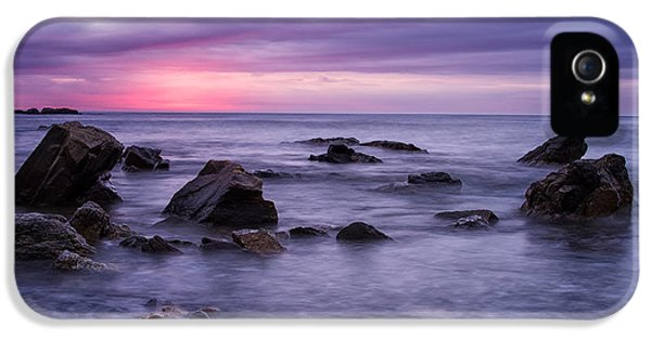 Boulders In The Surf Wallis Sands  IPhone 5 Case