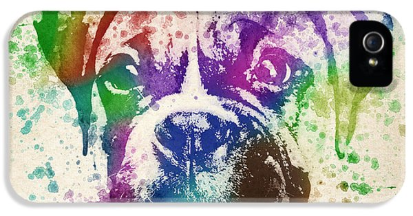 Boxer Splash IPhone 5 / 5s Case by Aged Pixel