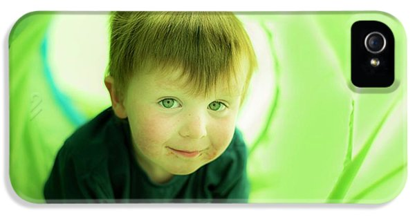 Boy In Green Tunnel IPhone 5 Case