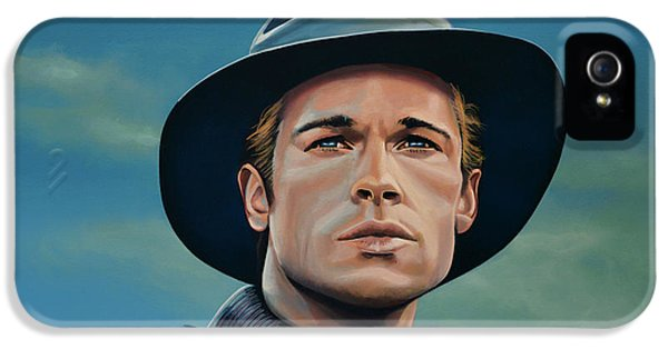 Brad Pitt Painting IPhone 5 Case