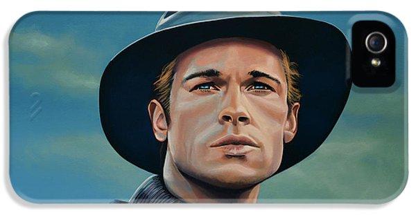 Brad Pitt Painting IPhone 5 Case by Paul Meijering