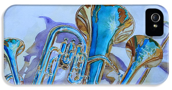 Trombone iPhone 5 Case - Brass Candy Trio by Jenny Armitage