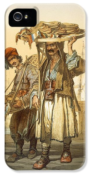 Bread Sellers On The Quay, 1865 IPhone 5 Case by Amadeo Preziosi