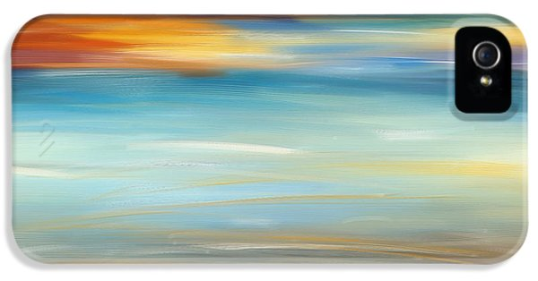 Breeze-seascapes Abstract Art IPhone 5 Case by Lourry Legarde