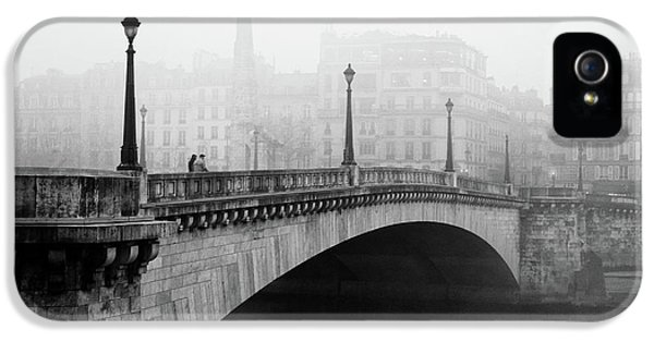 Town iPhone 5 Case - Bridge In The Mist by Madras91