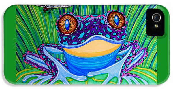 Bright Eyed Frog IPhone 5 Case by Nick Gustafson