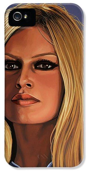 Brigitte Bardot Painting IPhone 5 Case by Paul Meijering