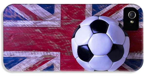 British Flag And Soccer Ball IPhone 5 Case by Garry Gay