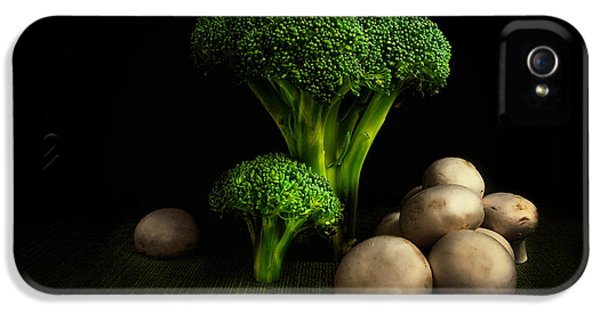 Broccoli Crowns And Mushrooms IPhone 5 Case by Tom Mc Nemar