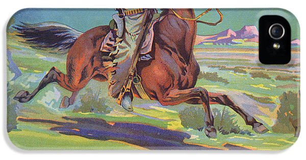 Horse iPhone 5 Case - Bronco Oranges by American School
