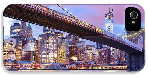 Brooklyn Bridge And New York City Skyscrapers IPhone 5 Case
