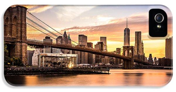 Brooklyn Bridge At Sunset  IPhone 5 Case