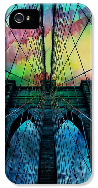 City Scenes iPhone 5 Case - Psychedelic Skies by Az Jackson