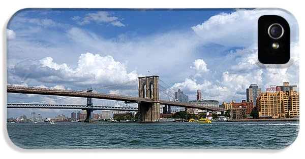 Brooklyn Bridge Panorama IPhone 5 Case by Amy Cicconi
