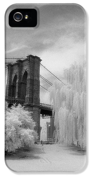 Brooklyn Bridge Willows IPhone 5 Case by Dave Beckerman