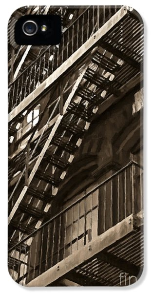 Brooklyn Fire Escapes IPhone 5 Case by Diane Diederich