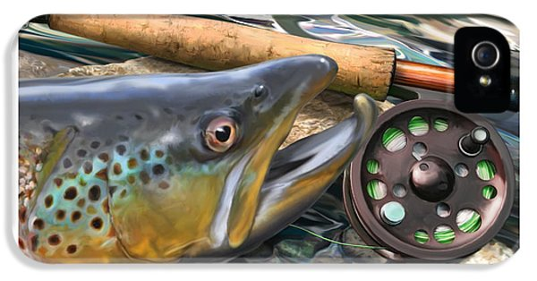Brown Trout Sunset IPhone 5 / 5s Case by Craig Tinder