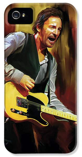 Bruce Springsteen Artwork IPhone 5 Case by Sheraz A