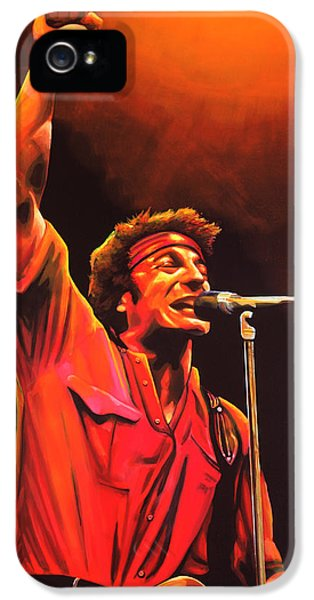 Bruce Springsteen Painting IPhone 5 Case