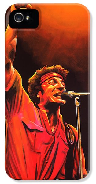 Rock And Roll iPhone 5 Case - Bruce Springsteen Painting by Paul Meijering