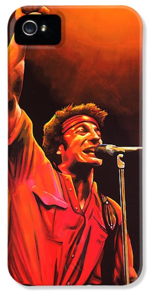 Bruce Springsteen Painting IPhone 5 Case by Paul Meijering
