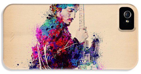Bruce Springsteen Splats And Guitar IPhone 5 Case