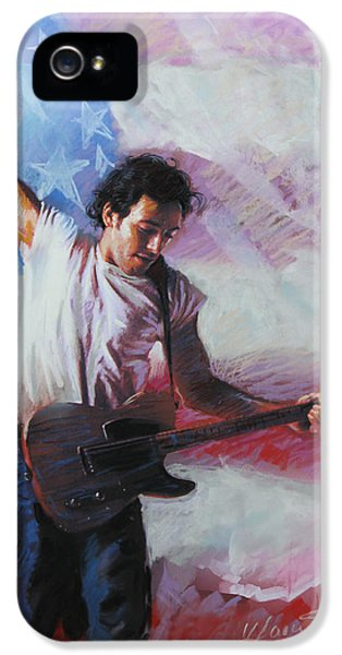 Bruce Springsteen The Boss IPhone 5 Case by Viola El