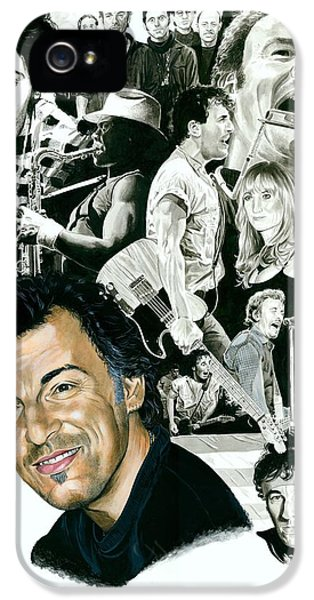 Bruce Springsteen Through The Years IPhone 5 Case by Ken Branch