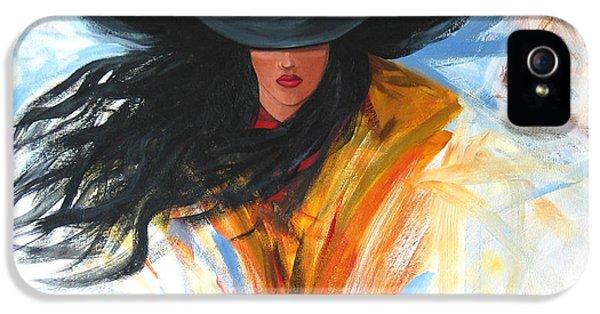 Brushstroke Cowgirl IPhone 5 Case by Lance Headlee